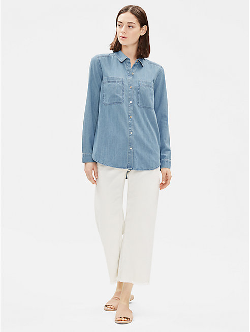 Organic Cotton Drapey Denim Shirt