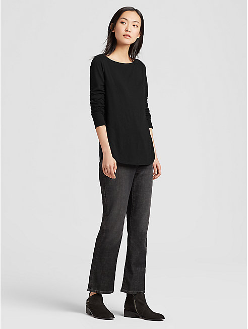 Organic Cotton Slub Shirttail Top