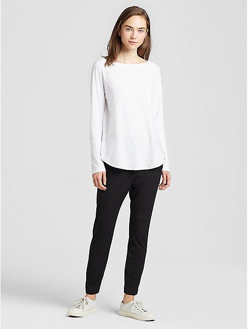 Organic Cotton Slub Shirttail Top