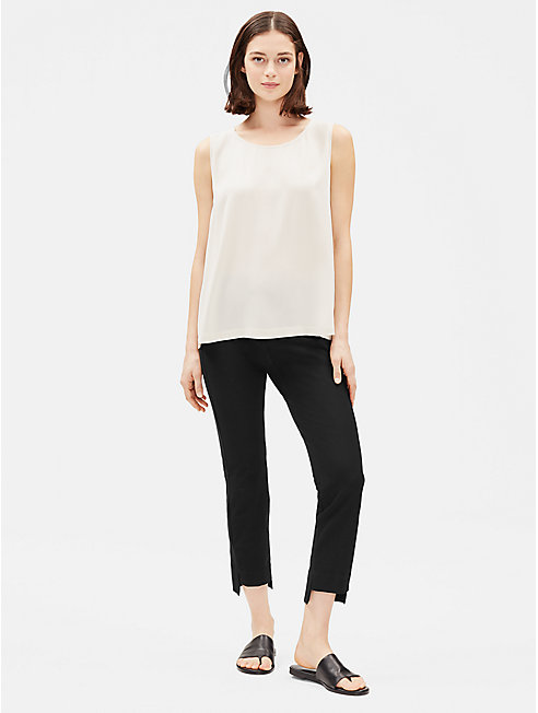 Washable Stretch Crepe Slim Cropped Pant