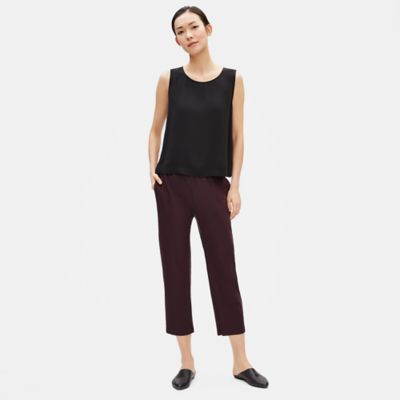 Washable Stretch Crepe Slouchy Pant