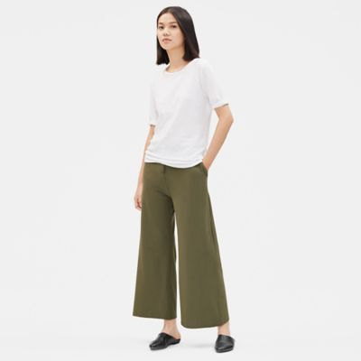 Washable Stretch Crepe High-Waisted Ankle Pant