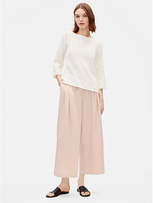 Tencel Linen Wide-Leg Trouser