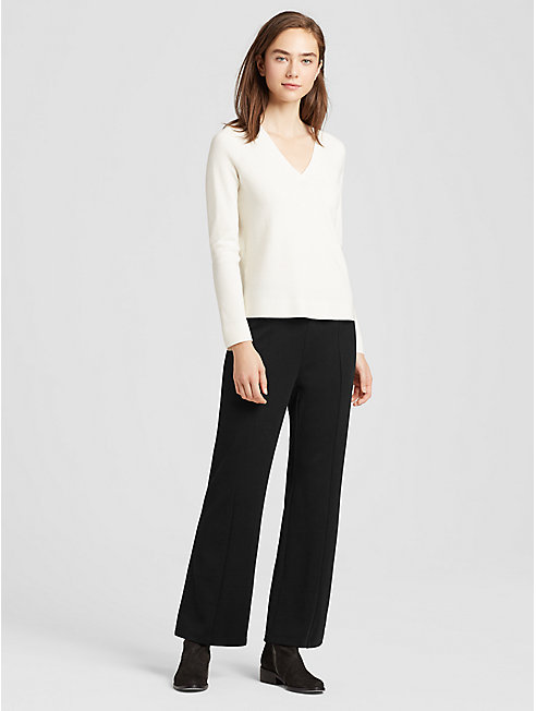 Tencel Ponte Flared Ankle Pant