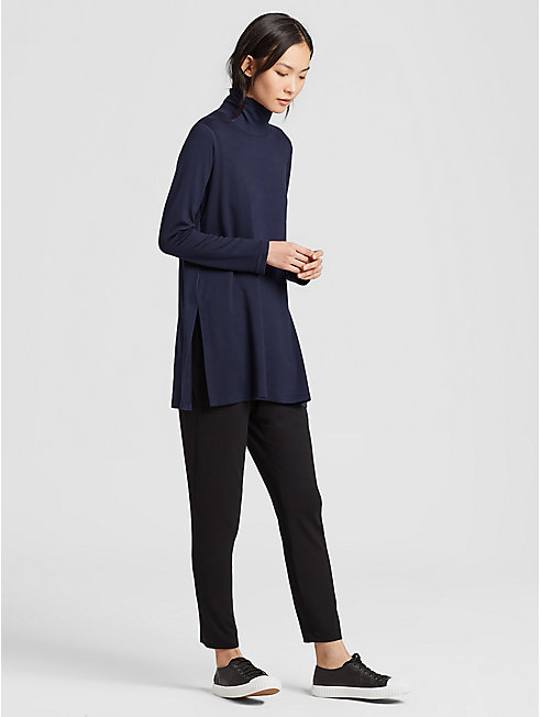 Tencel Terry Turtleneck Tunic