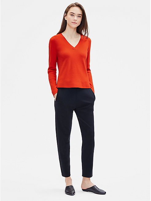 Luxe Merino Stretch V-Neck Top
