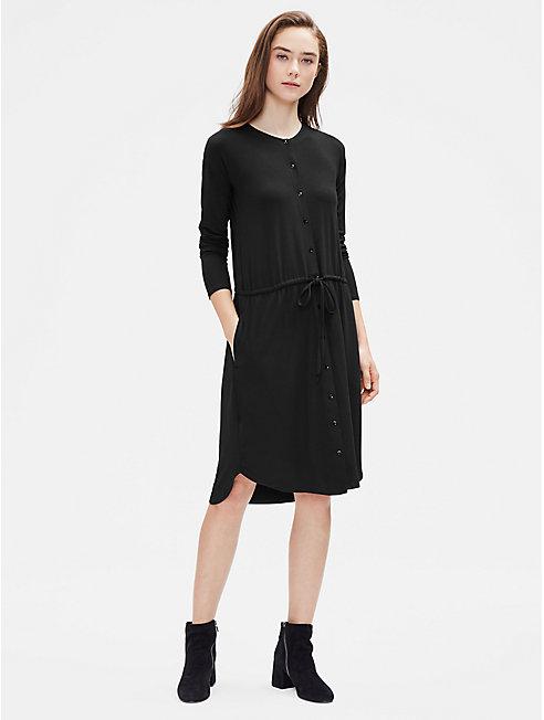 Viscose Jersey Drawstring Dress