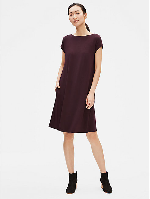 Viscose Jersey Dress with Back Twist