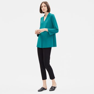Viscose Jersey V-Neck Top