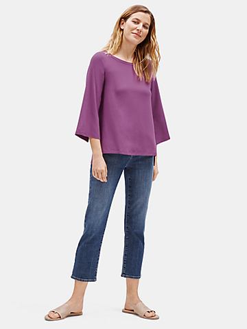 Viscose Jersey Jewel Neck Top