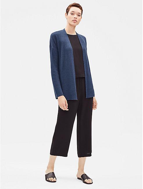 Organic Linen Ribbed Cardigan