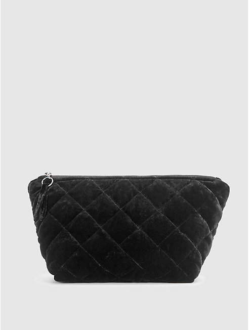 Quilted Velvet Diamond Clutch