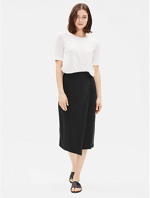 Fluid Tencel Wrap Skirt