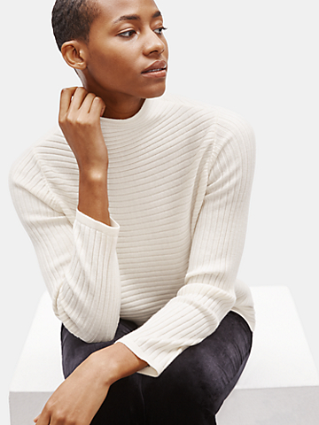 Merino Funnel Neck Top in Responsible Wool
