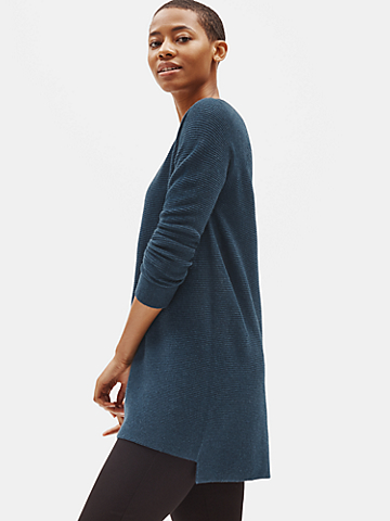 Seamless Italian Cashmere V-Neck Tunic