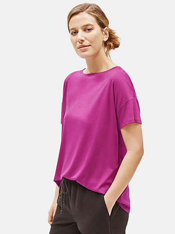 Tencel Interlock Bateau Neck Tee