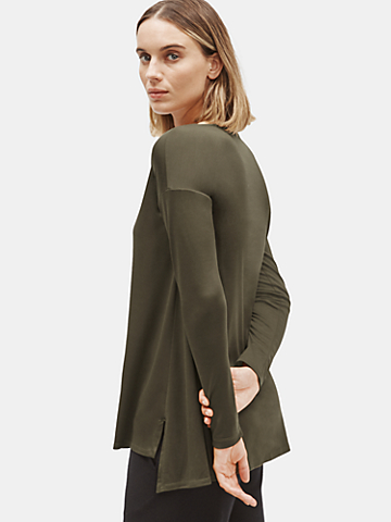 Tencel Interlock Ballet Neck Top