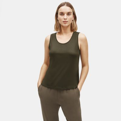 Tencel Interlock Scoop Neck Tank