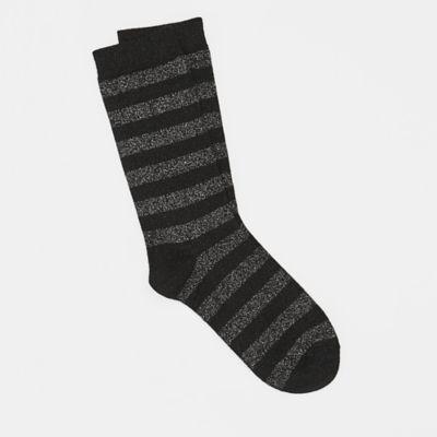 Viscose Shimmer Striped Sock
