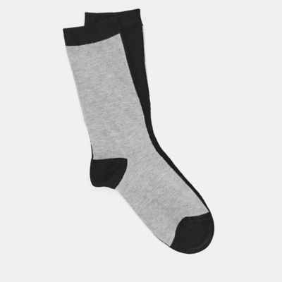 Viscose Color-Blocked Sock