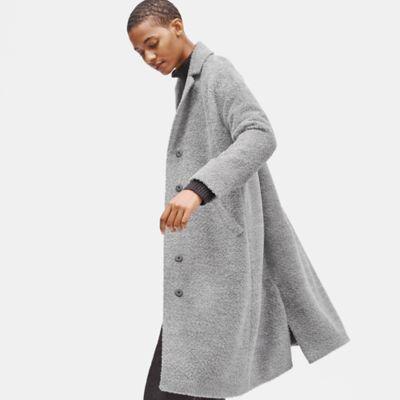 Sheared Suri Alpaca Boxy Coat