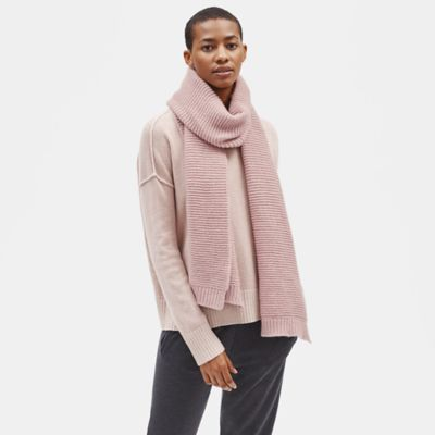 Lofty Recycled Cashmere Ribbed Scarf