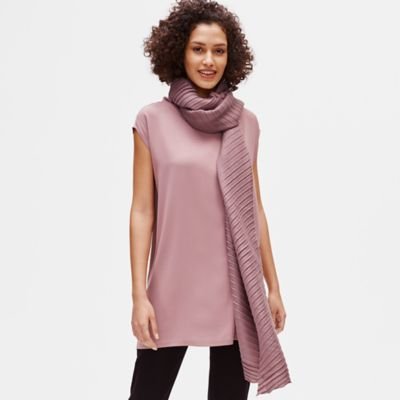 Wool Accordion Pleated Scarf