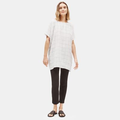 Organic Linen Grid Tunic