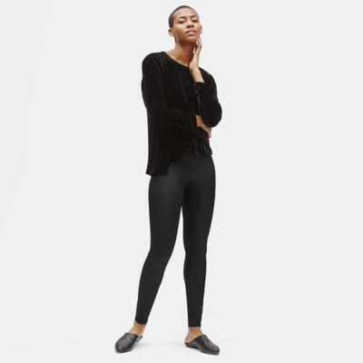 Coated Organic Cotton Leggings