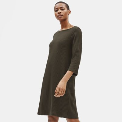 Tencel Stretch Rib Shift Dress