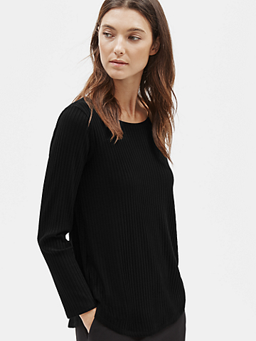 Tencel Stretch Rib Top