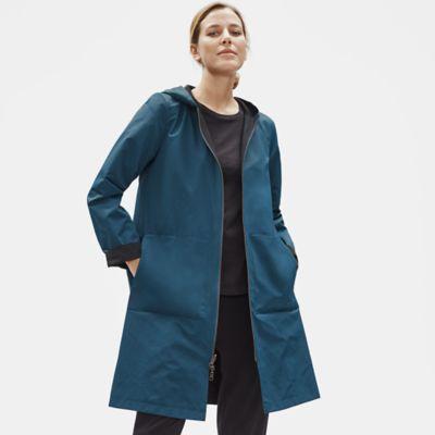 Organic Cotton Nylon Reversible Hooded Jacket