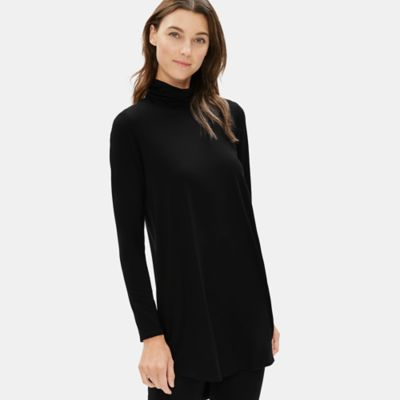 Tencel Jersey Turtleneck Tunic