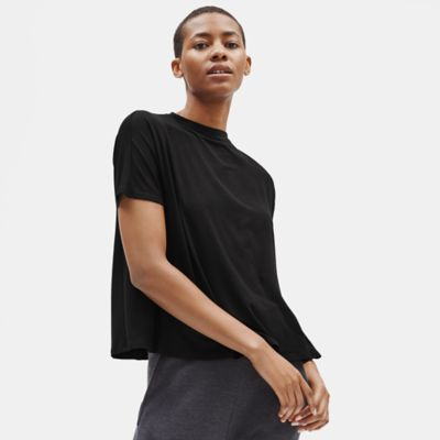 Tencel Jersey Oversized Mock Neck Top