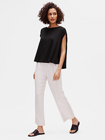 Fine Jersey Oversized Box-Top