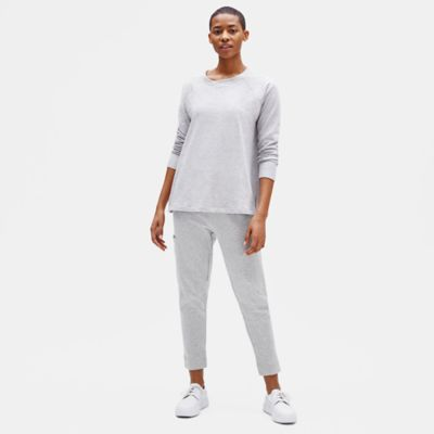 Tencel & Organic Cotton Fleece Slouchy Pant
