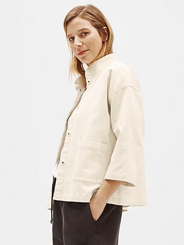 Organic Cotton Stand Collar Jacket