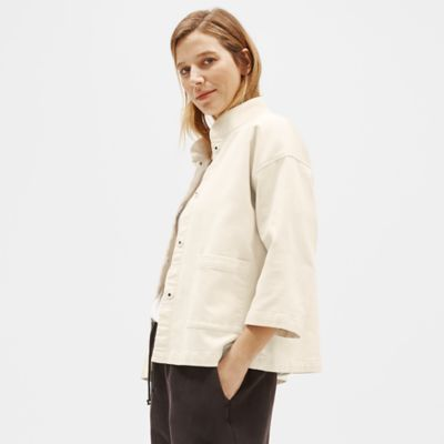 Organic Cotton Stand Collar Jacket