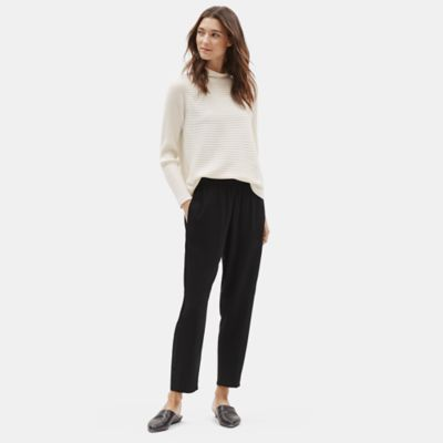 Silk Georgette Crepe Side Panel Pant