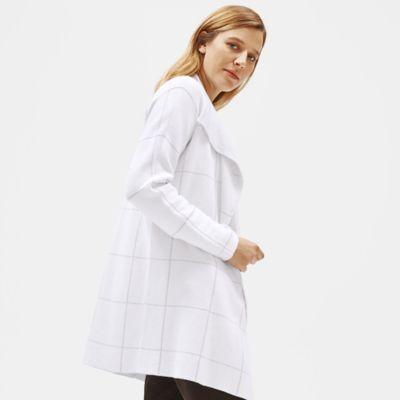 Organic Cotton Silk Angled Front Cardigan