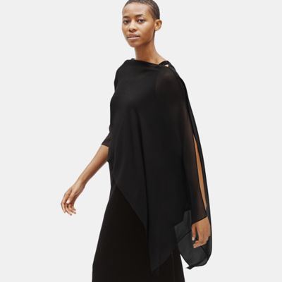 Sheer Silk Georgette Poncho