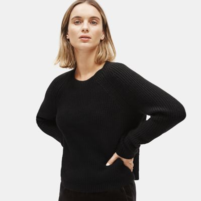 Lofty Recycled Cashmere Raglan-Sleeve Box-Top