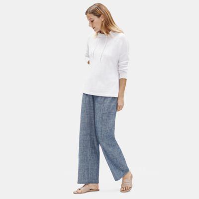 Hemp Organic Cotton Chambray Wide Pant