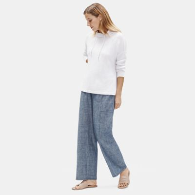 Hemp Organic Cotton Chambray Wide Pant