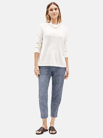 Hemp Organic Cotton Chambray Slouchy Pant