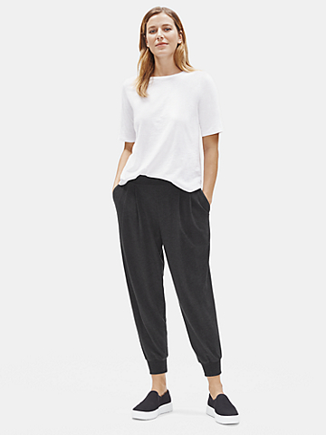 Cozy Tencel Stretch Jersey Slouchy Pant