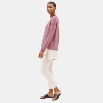 Italian Cashmere Bateau Neck Box-Top