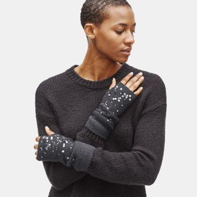 Merino Sequins Glovelettes in Responsible Wool