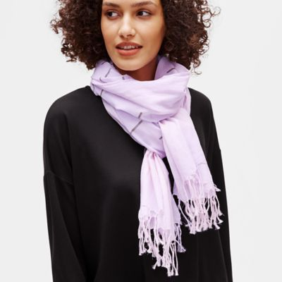 Handloomed Organic Cotton Ikat Scarf