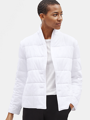 Quilted Organic Cotton Jersey Jacket